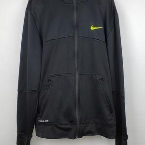 Nike Therma-fit Black XL Zip Fleece Lined Hoodie